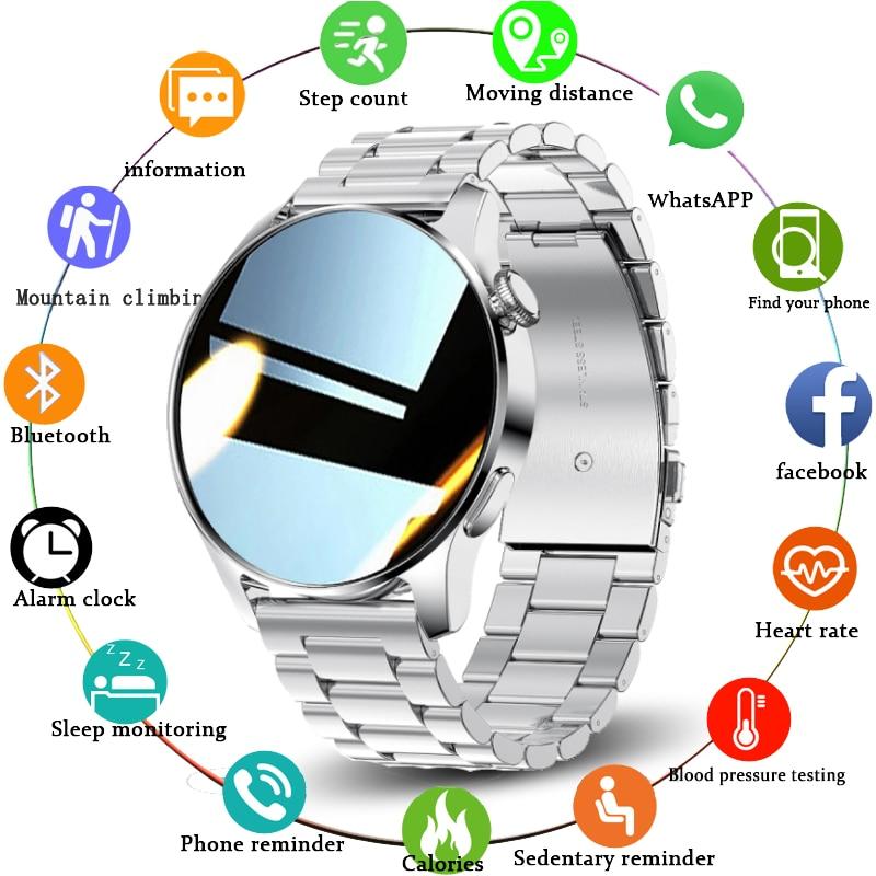 LIGE 2021 جديد ساعة ذكية الرجال مقاوم للماء جهاز مراقبة اللياقة الرياضية عرض الطقس رفض/الاتصال الهاتفي النساء Smartwatch ل IOS أندرويد