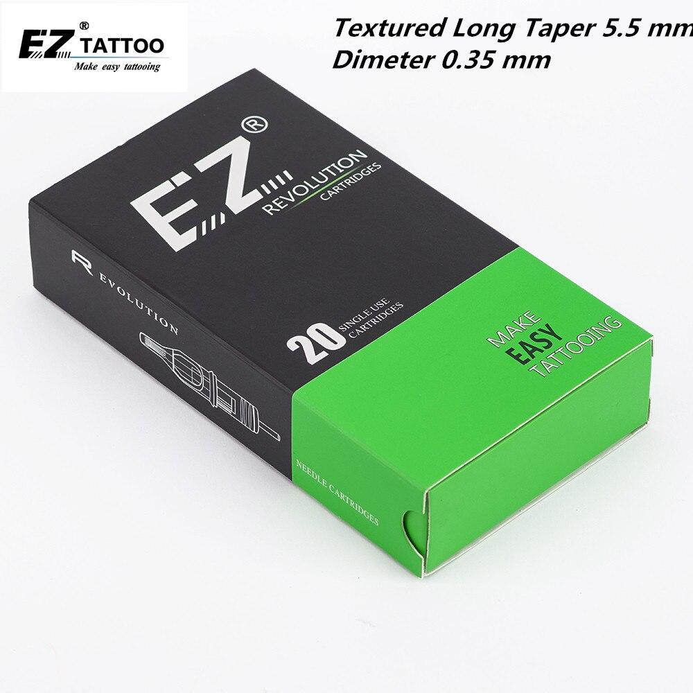 EZ Revolution Cartridge Needles #12 (0.35 mm) Magnum Textured  L-Taper 5.5 mm for Cartridge Tattoo Machines