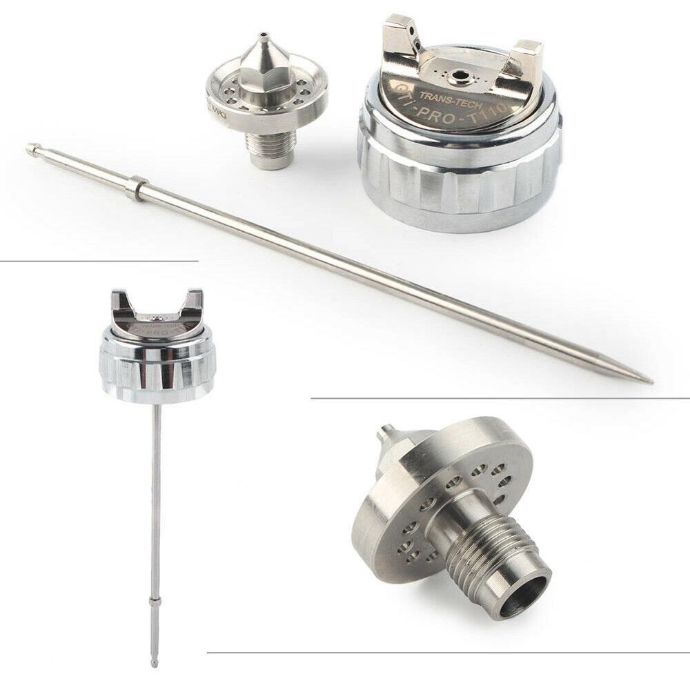 Kit de boquilla GTI, kit de boquilla de pistola pulverizadora de 1,3mm, boquilla de aguja y tapa de boquilla T110/TE20, tapa de boquilla, pistola de aire, piezas de reparación