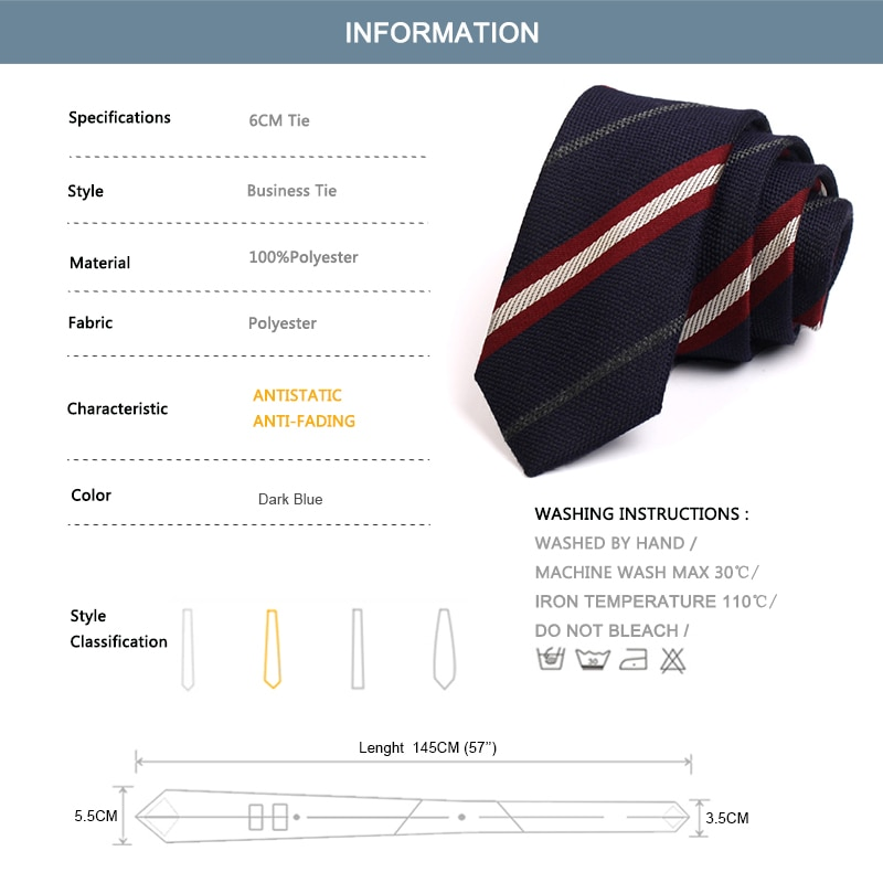 2020 New High Quality Fashion Formal Tie Mens 6CM Dark Blue Ties Neck Tie For Men Business Suit Work Necktie With Gift Box