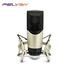 FELYBY MK4 Профессиональный конденсаторный микрофон для компьютерных игр, караоке, Студийный микрофон для прямой трансляции