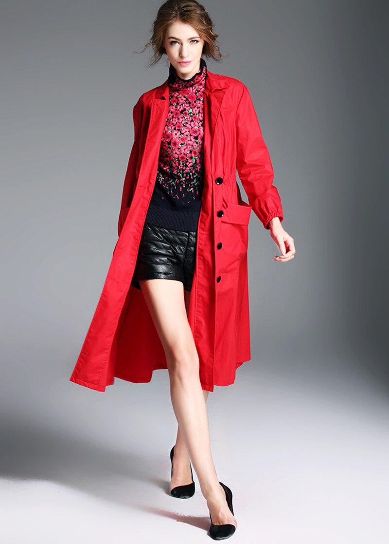 ¡Moda 2020! gabardina larga de primavera y otoño para mujer, rompevientos, prendas de vestir, abrigos ajustados para mujer, abrigo femenino WXF104 s