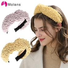 MOLANS Totty and Ted headbands Soft Plush Fuzzy Feelings Teddy Hairbands Furry Lambswool Winter Headbands Headwear Knot Hairband