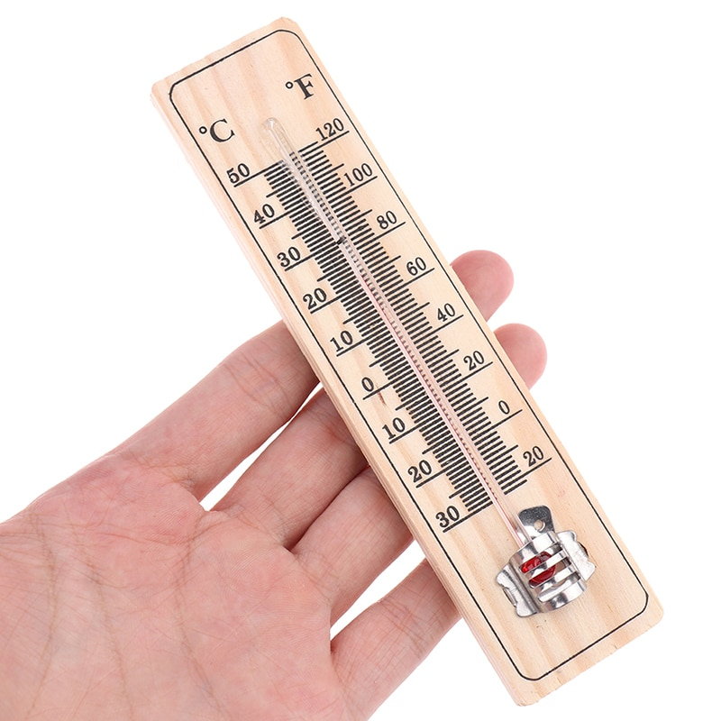 Деревянные термометры, практичные садовые, офисные, гаражные, для помещения, температурный Регистратор, настенный, прямое считывание, высокое качество, 1 шт.