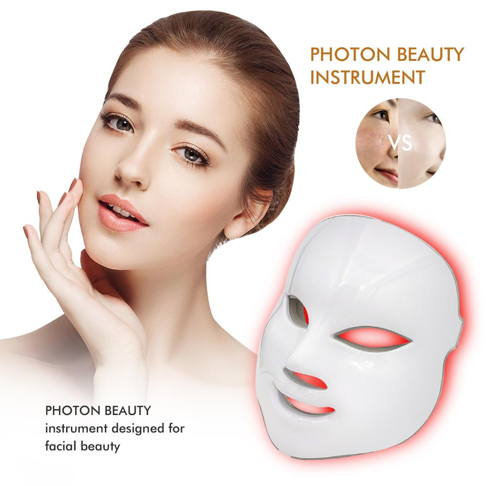 7 Colors LED Facial Mask Red Light Therapy Led Mask Skin Care Anti Aging Device Wrinkle Remove Beauty Tightens Skin Machine