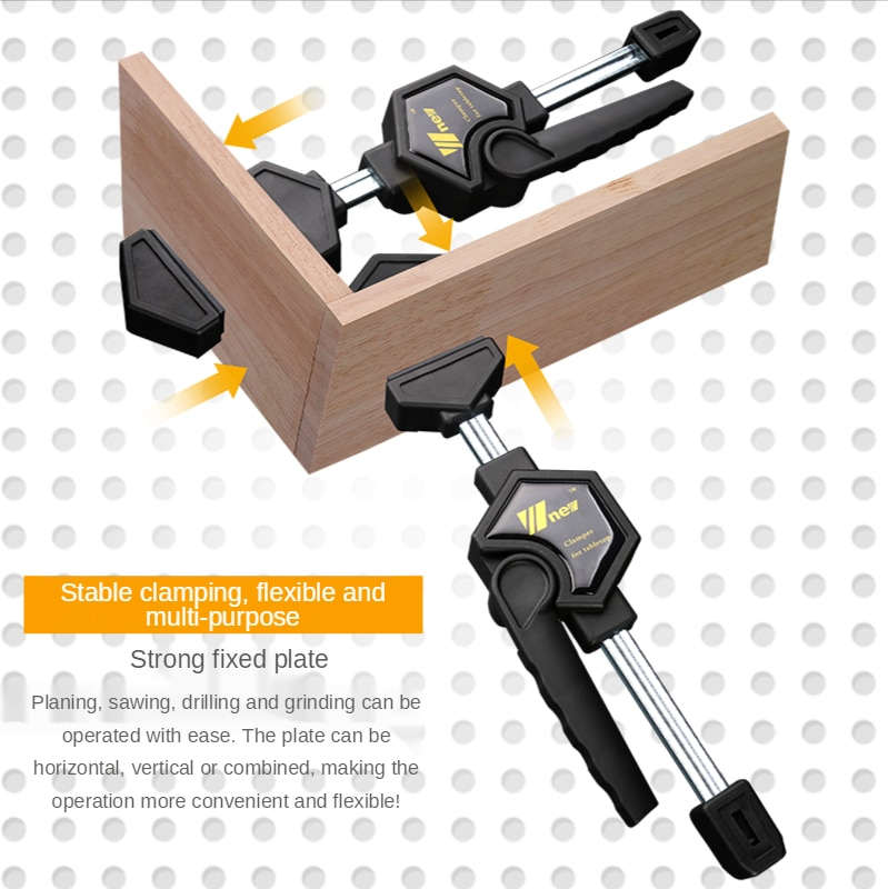 2PCS/set Quick Ratchet Release Speed Squeeze Woodworking Clamp Clip Kit Spreader Gadget Tool Stable DIY Machine Repair Tools Kit enlarge