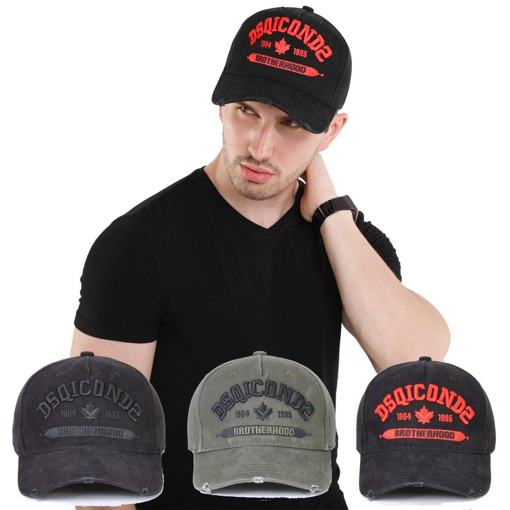 DSQICOND2 marca 2019 gorra de béisbol para hombres y mujeres sombrero negro bordado DSQ2 letras gorra Casual gorra Hip Hop gorra Snapback gorra hueso papá sombrero