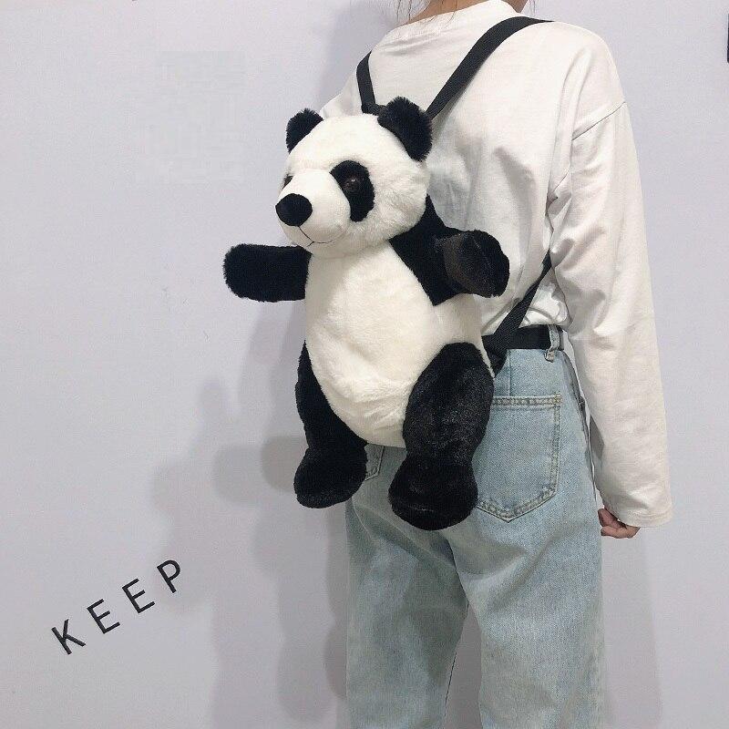 ¡Candice guo! Bonito juguete de peluche, adorable dibujo animado, animal, abrazo, panda, mochila suave, mochila, bolsa para niña, regalo de cumpleaños, Navidad, 1 unidad