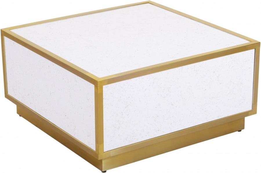 طاولة القهوة أثاث غرفة المعيشة طاولة جانبية الذهب الشمال الفاخرة الرخام طاولة معدنية طاولة طعام صغيرة مربع القهوة المركزية