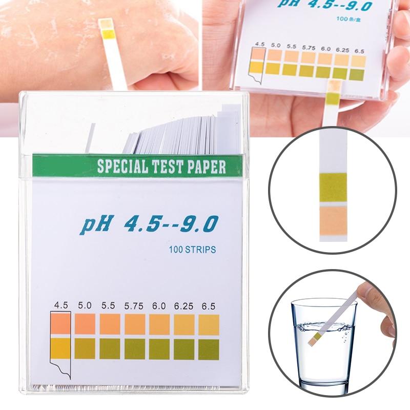 Тест-полоска 100 шт./кор. рН, индикатор твердости щелочности, тест-бумага для определения твердости слюны и мочи, измерительный инструмент для...
