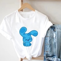 aesthetic summer woman t shirts grunge clothes womens summer t shirts a spotted bunny with oversized ears funny t shirts