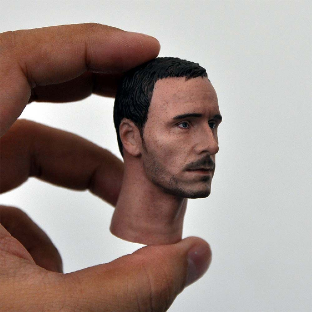 Escala 1/6 cabeza de soldado masculino esculpir imán rey Michael Fassbender cabeza esculpir modelo para 12 accesorio del cuerpo