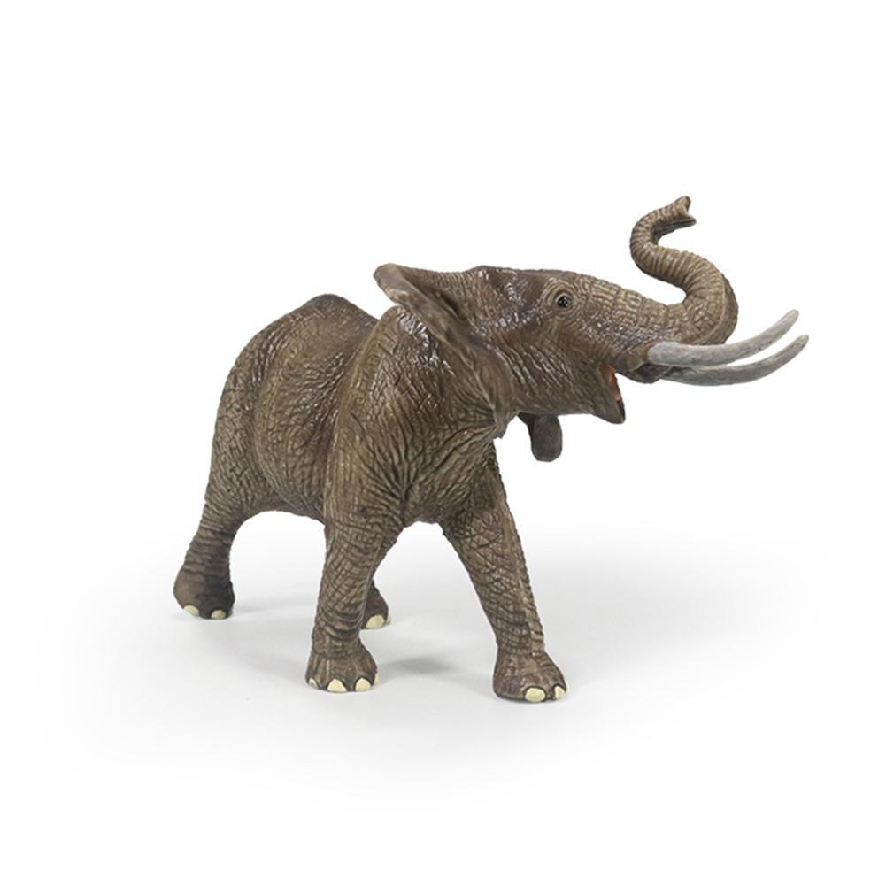 Simulation Elephant Model Toy Cute Desktop Ornaments Simulation Gift Wild Ornaments Elephant Toy Children's Doll L3X4