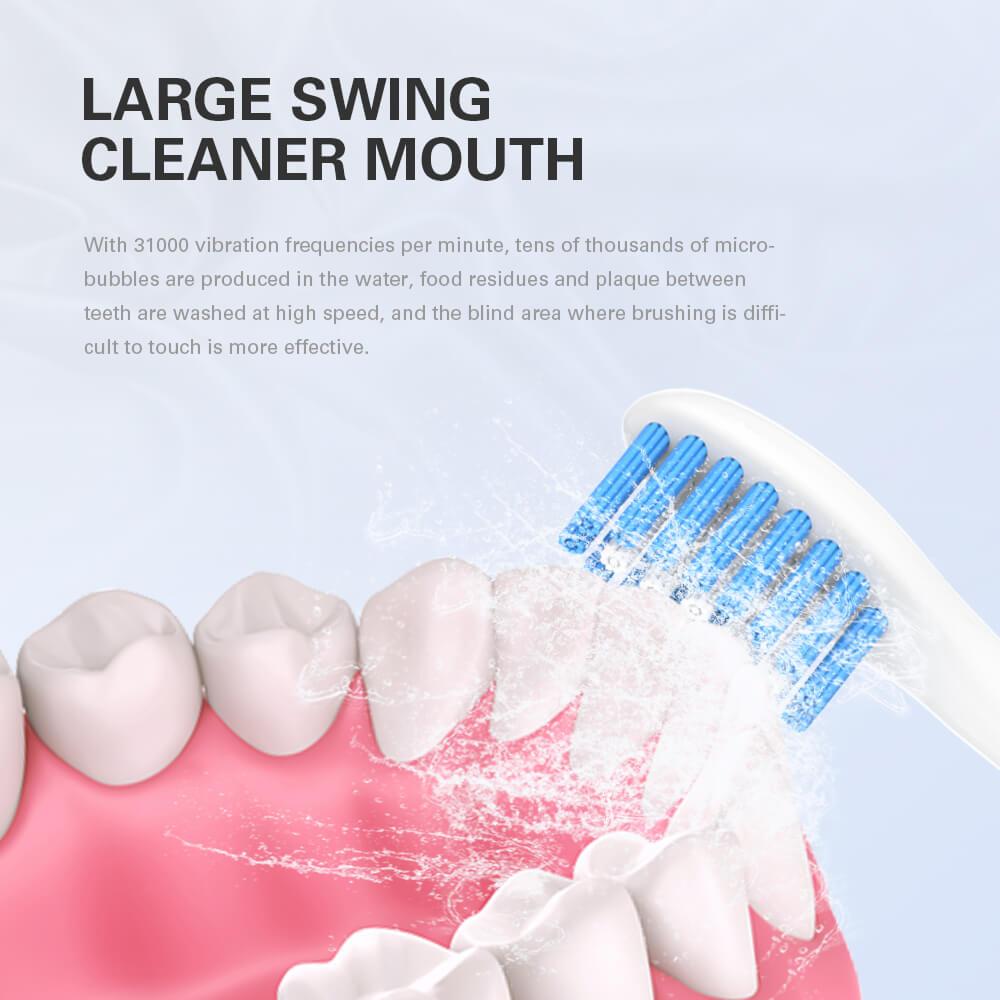 Buy 1 Get 2 Free Electric Toothbrush USB RechargeableTravel Waterproof Tooth Brush Top Toothbrush Head  Acoustic Wave Toothbrush enlarge