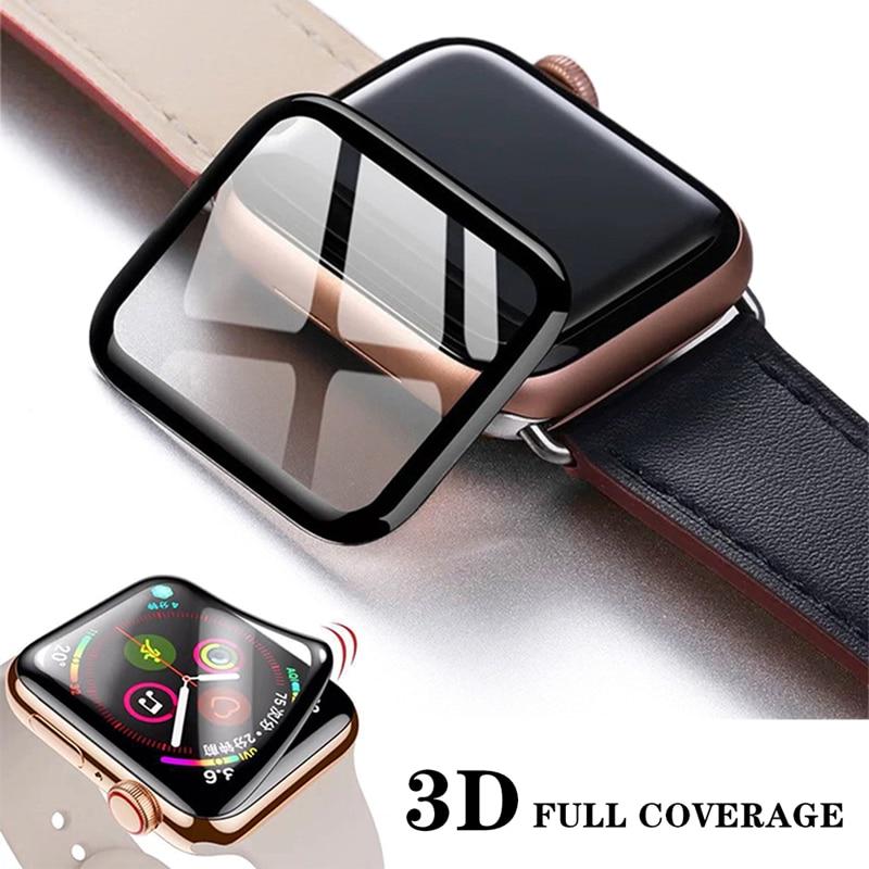 3D wodoodporna pełna ochrona ekranu dla Apple Watch 6 SE 5 4 40mm 44mm nie hartowane miękkie szkło dla serii iwatch 3 2 1 38mm 42mm