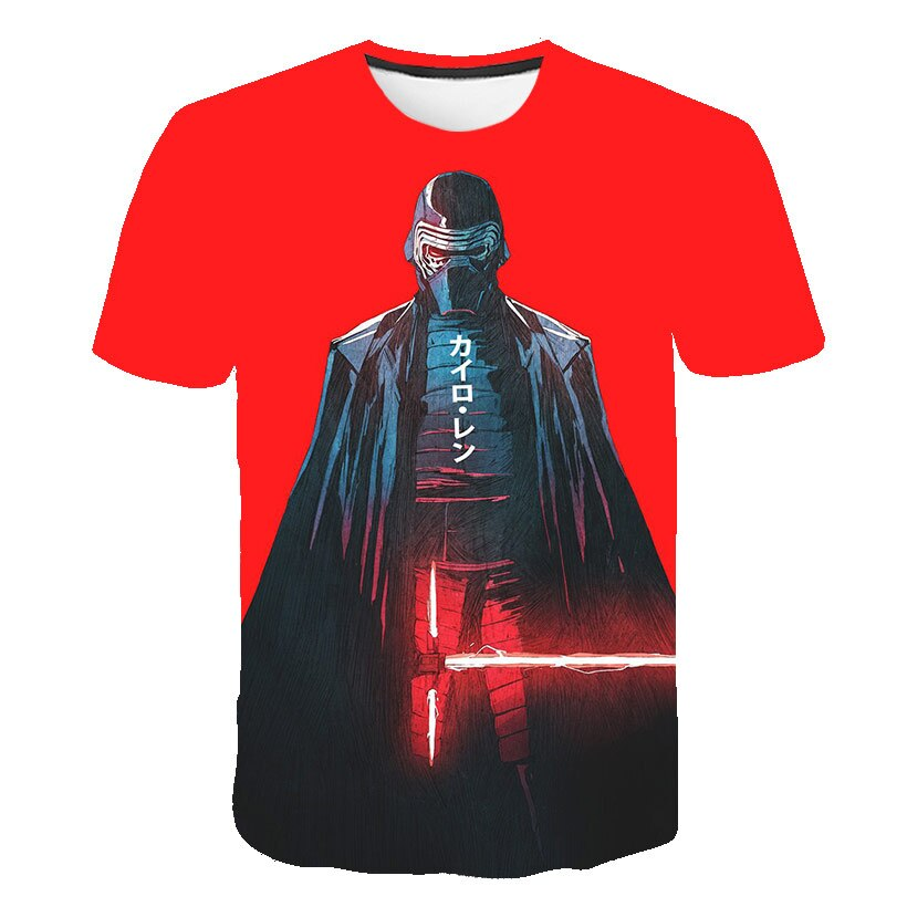 Camiseta 3d Space para hombre, ropa de Rock Star Wars, camiseta Harajuku estampada, camiseta Hip Hop, camisetas estampadas, pantalón corto informal de manga larga