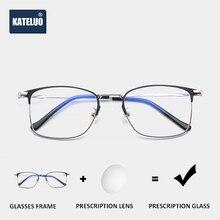 KATELUO Stainless Steel Photochromic Prescription Glasses Optical Eyeglasses Frame Myopia Eyeglasses