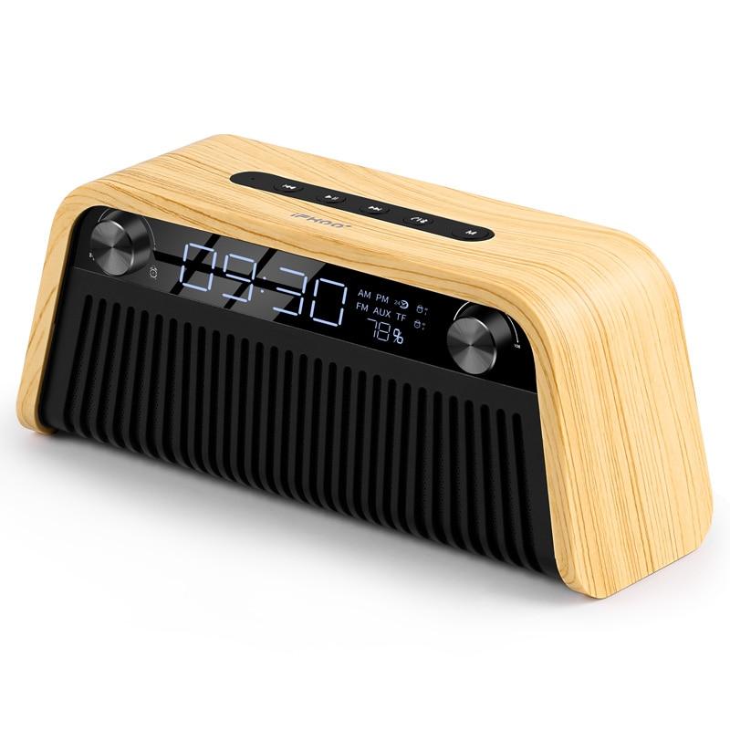 IF-Q2 Wireless Bluetooth Speakers Alarm Clock Computer Desk Subwoofer Outdoor Car Phone Mini Portable Retro Collection Radio TF enlarge