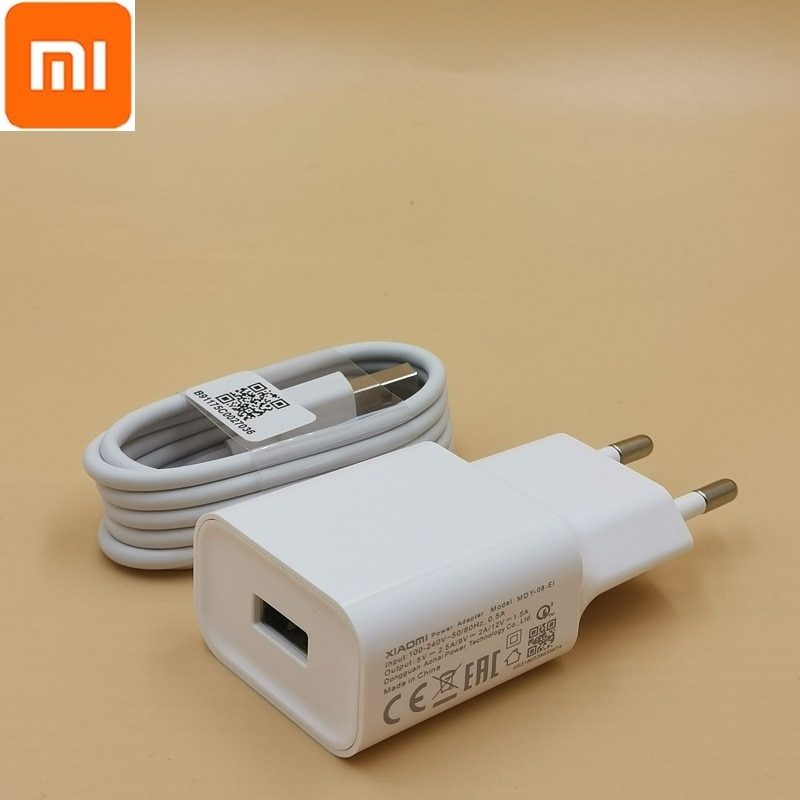 original mi8 charger QC3.0 quick 12v 1.5a 9v 2a EU wall fast charge adapter typec cable for mi 8 se 8 6 mix 3 2s 2 max 3 a2 a1