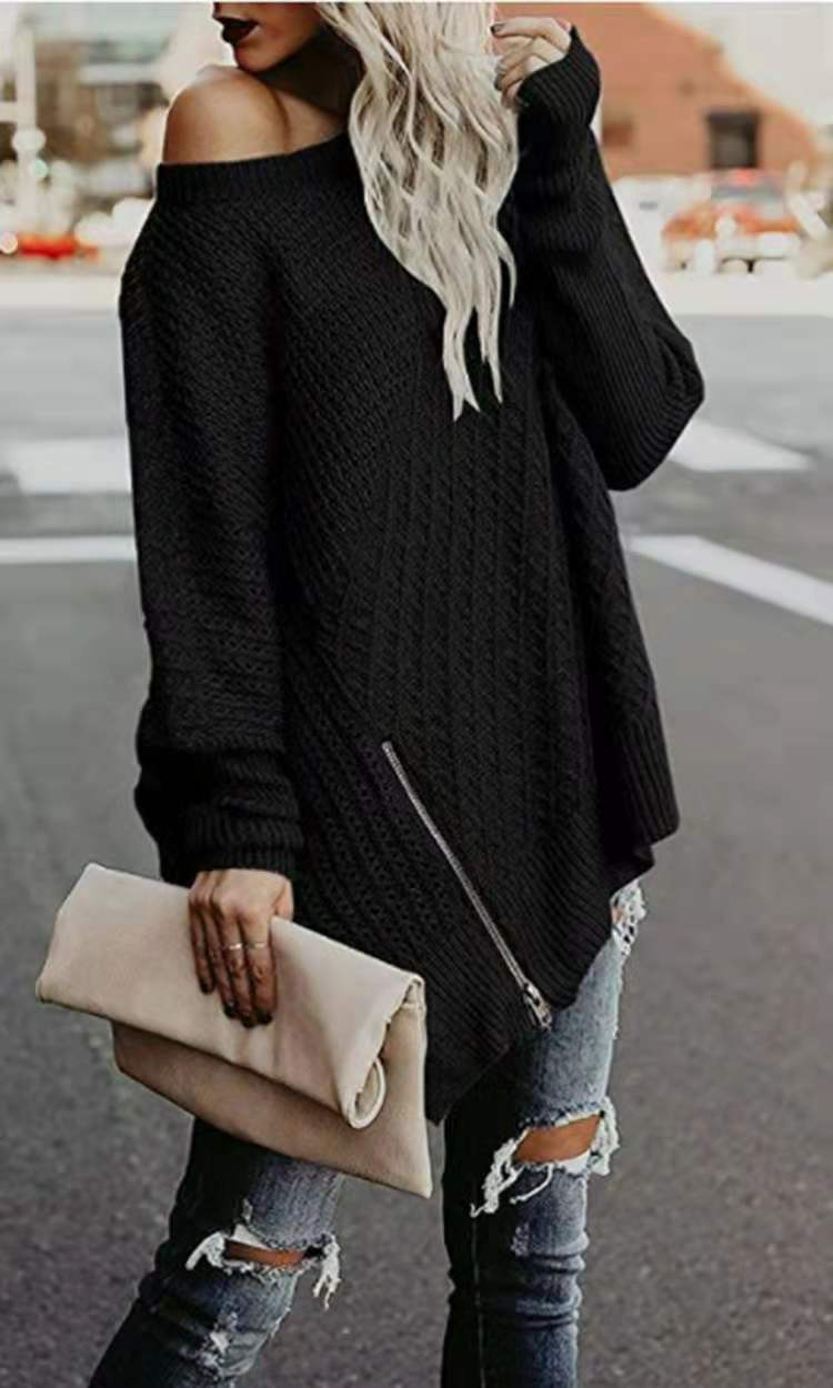Sweater Fashion Knitted Women High Street Autumn Winter Pullover Plus Loose Long Batwing Sleeve Female Knitwear Sueter De Mujer