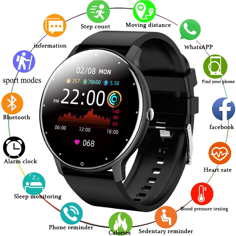 LIGE New Smart Watch Men And Women Sports watch Blood pressure Sleep Monitoring Fitness tracker Andr