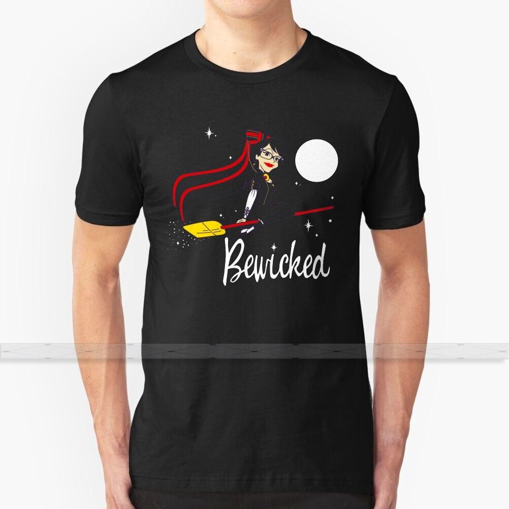 Bewicked, diseño personalizado impreso para hombres y mujeres, Camiseta de algodón nueva, camiseta Guay, tamaño grande 6XL, Bayonetta, videojuegos, Bewitched
