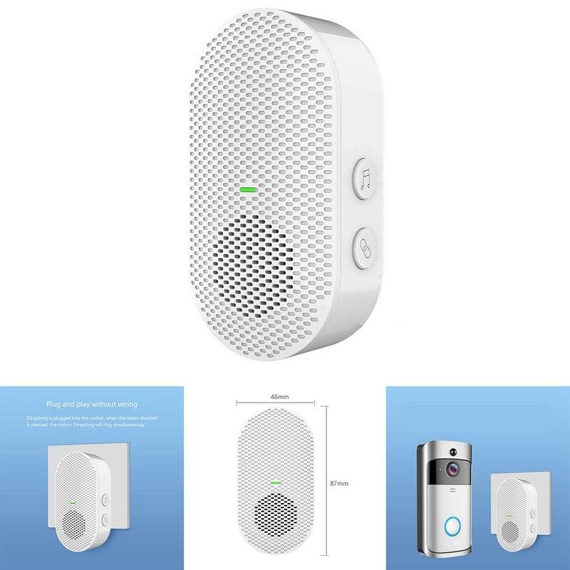 Wireless Doorbell Chime Home Security Intercom Doorbell Transmitter with Music Modes for Video Doorb