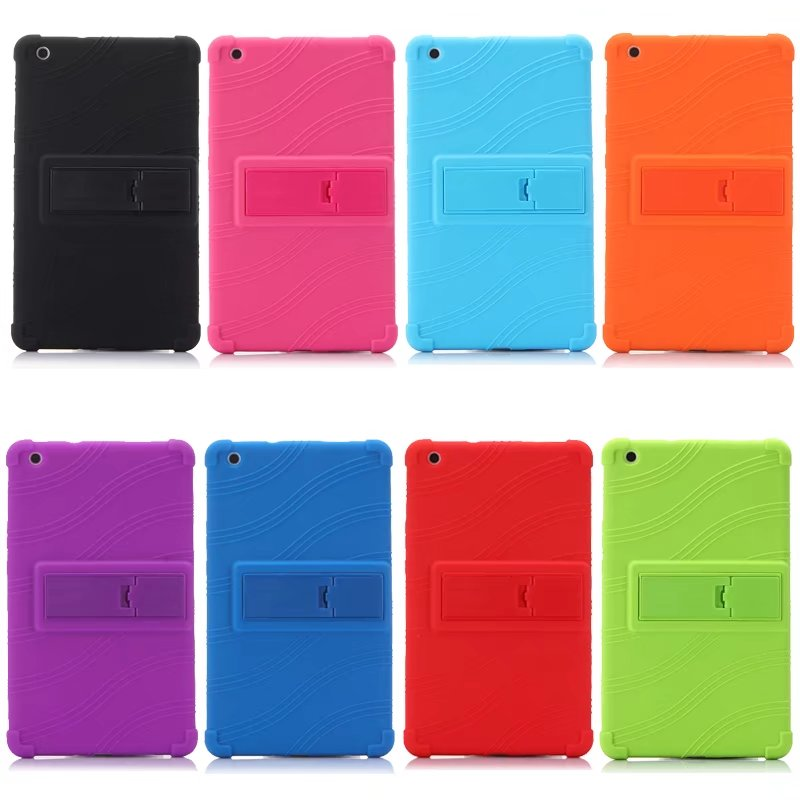 "Los niños Shockroof caso para Huawei MediaPad T3 8,0 ""KOB-L09 KOB-W09 Tablet suave carcasa trasera de silicona para Huawei T3 8 pulgadas + Pen"