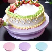 Bricolage rotatif gâteau cuisson outil plateau tournant décoration gâteau support gâteau en plastique gâteau rotatif Table cuisson outil 7*28Cm 10 pouces