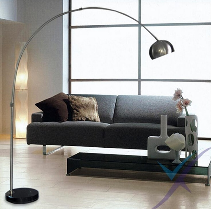 Nordic E27 chrom Schwarz marmor LED folding rotary Arc boden lampe für büro arbeit und studie Wohnkultur Boden Beleuchtung