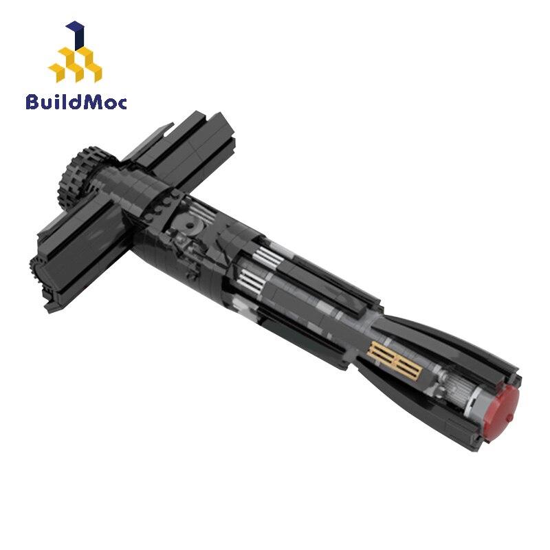 أدوات البناء لأسلحة الأفلام الخبيرة في حروب الفضاء والسيف وبناء كتل سلاح MOC ألعاب للأطفال هدايا الأطفال