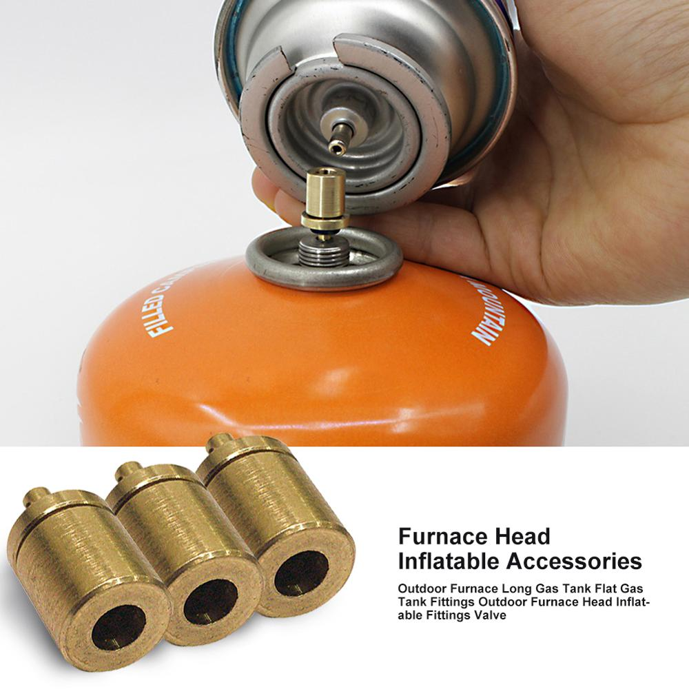 1/2/3 pçs adaptador de recarga gás acampamento ao ar livre fogão cilindro gás gás acessórios queimador caminhadas inflar butano vasilha