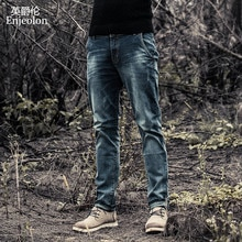 Enjeolon marca men denim jeans calças compridas calças de brim dos homens calças de algodão calças dos homens calças de brim do sexo masculino denim calças de brim causais roupas K6003