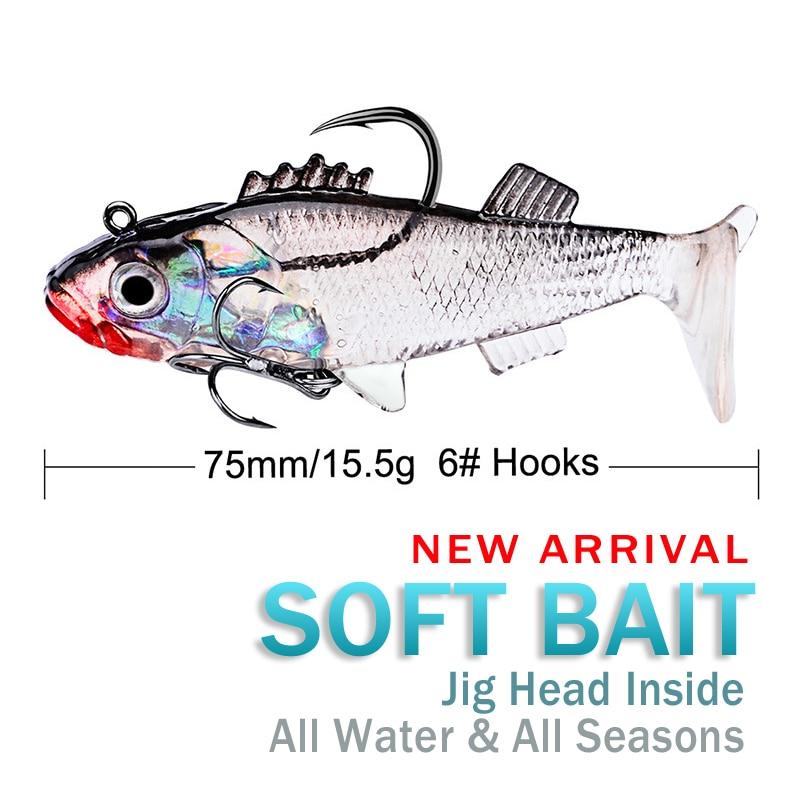 15.7g/7.6cm 4 Color New Sea Fishing Lead Plating Fish Luya Bait 15.7G Three-Color Fishing Gear Categ