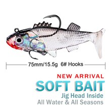 15.7g/7.6cm 4 Color New Sea Fishing Lead Plating Fish Luya Bait 15.7G Three-Color Fishing Gear Categ