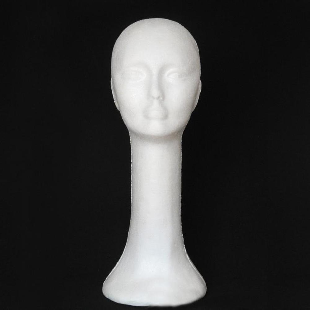 Foam Female Human Head Long Neck Mannequin Wig Hat Display Stand Model Exquisite Hot Foam Long Neck Woman Model