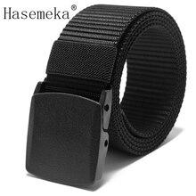 New Automatic Buckle Nylon Belt Male Army Tactical Belt Mens Military Waist Canvas Belts Cummerbunds