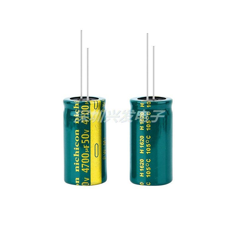 Tamanho 18x35mm 4700uf 50v do capacitor eletrolítico do plug-in resistente de alta temperatura da resistência da baixa frequência 50v4700uf de alta temperatura