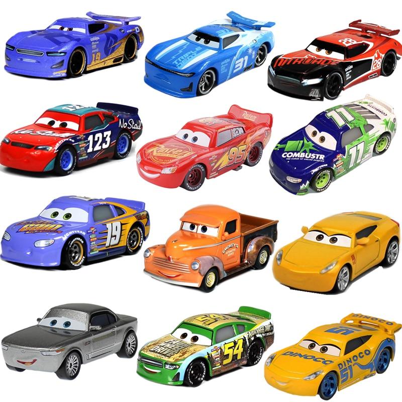 Disney Pixar Cars 2 3 коллекция Lightning McQueen Jackson Storm Ramirez 1:55 литье под давлением металлический сплав Игрушечная модель автомобиля детский подарок