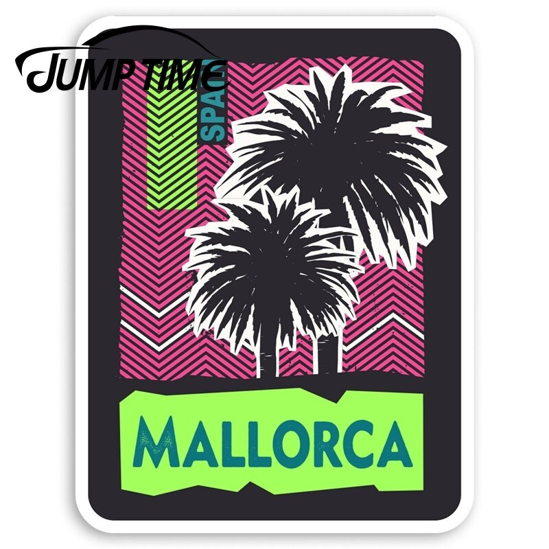 Jump Time Mallorca Spain Vinyl Stickers - Travel Holiday Sticker LuggageWaterproof Car Decal Trunk Car Accessories
