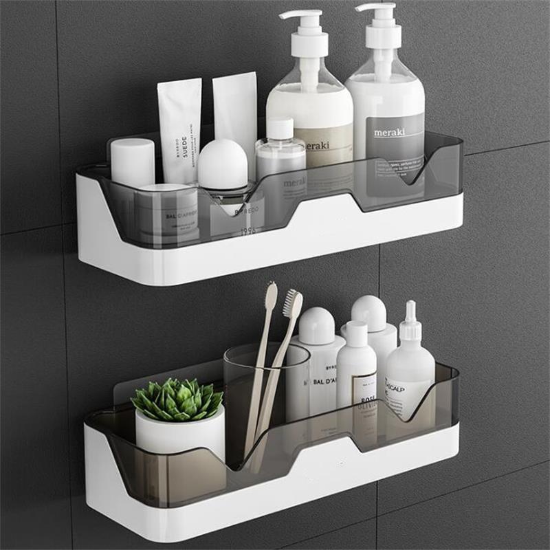 Étagère de salle de bain étanche mural en plastique étagère de rangement douche organisateur support cuisine et salle de bain support de rangement