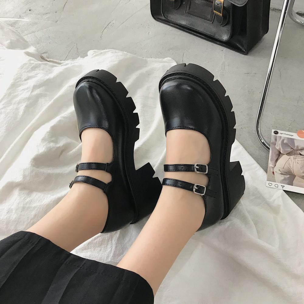 Lolita Shoes Women Japanese Style Vintage Soft Sister Girls High Heels Waterproof Platform College Student Cosplay Costume Shoes