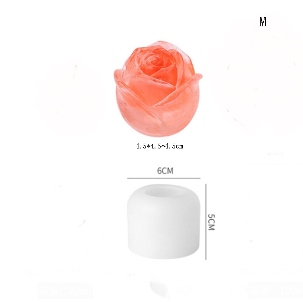 Ice Cube Form Made of Food Grade Silicone Rose Shape Icecream Mold 3D Ice Cream Ball Maker Reusable Cocktail Mould Bar Tools  - buy with discount