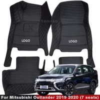 for mitsubishi outlander 2019 2020 7 seats car floor mats rugs auto interior carpets accessories rugs foot pads protect
