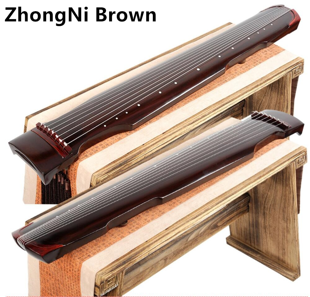High Quality Chinese Zhongni Guqin 7 strings Ancient Zither For Beginner Practice Guqin 100% Handmade musical instrument enlarge