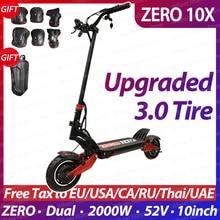 NULL 10X roller 10inch dual motor elektrische roller 52V 2000W off-road e-roller 65 km/h doppel stick hohe geschwindigkeit roller off road