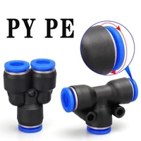 pe py three way pneumatic quick coupling od4 6 8 10 12 14 16mm hose plug in quick coupling adapter air compressor accessories