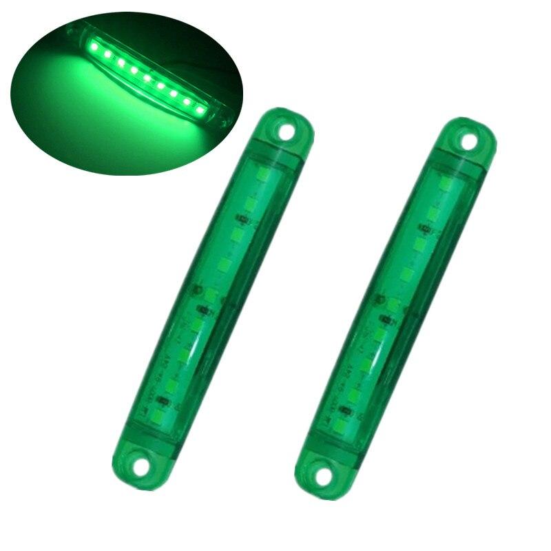 Accesorios para camiones 2 piezas luces LED 24v lámpara de camión tira de luz de despacho 9SMD marcador lateral accesorios LED para camión