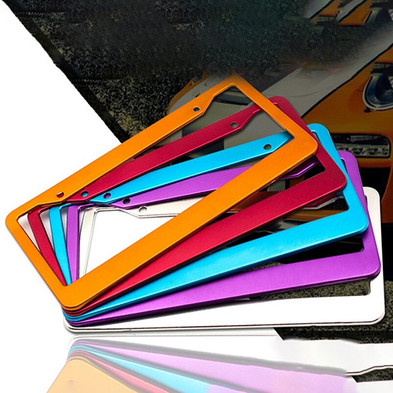 durable transparent license plate cover frame for usa plastic license tag cover holder vehicle car styling modified 31cmx16cm Universal Aluminum Alloy US Car License Plate Frame Cover Auto Accessory Waterproof Number Plate Holder Car Decoration