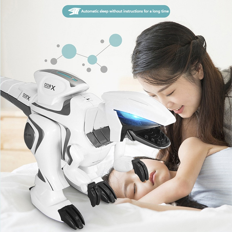 71CM Large Size Remote Control Robot RC Dinosaur With Walking Dancing Singing Flash Light Touch Sensor Shake Head Tail Swing Toy enlarge